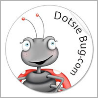 Dotsie Bug stickers